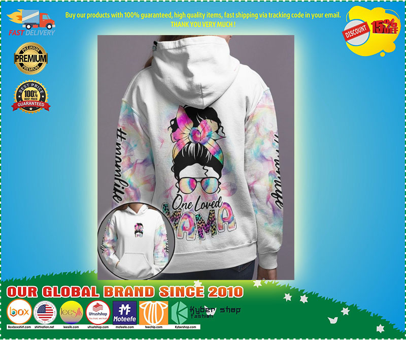 Skull coloful one loved mama 3D hoodie 10