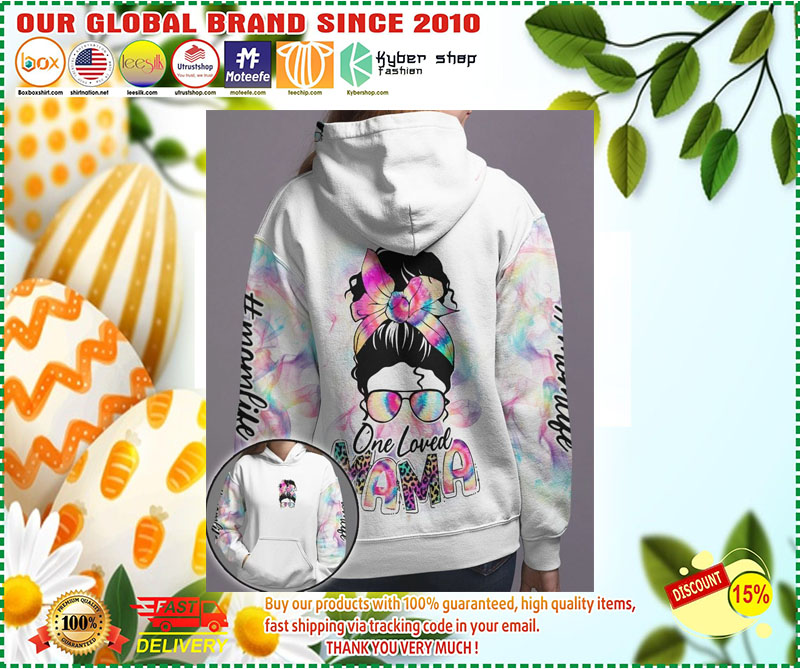 Skull coloful one loved mama 3D hoodie 9