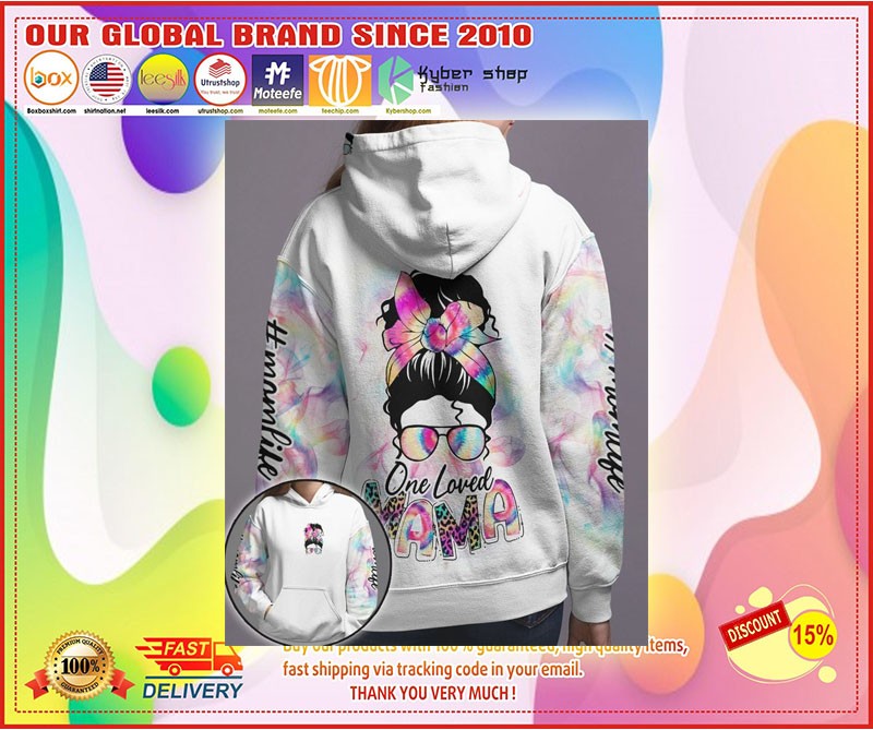 Skull coloful one loved mama 3D hoodie 11