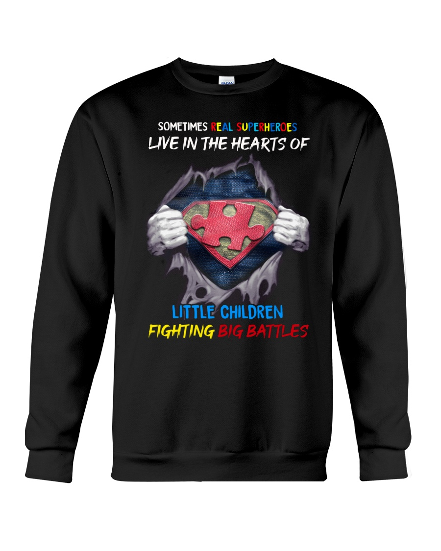 Sometimes Real Super heroes Live In The Hearts Of Little Children Shirt 12