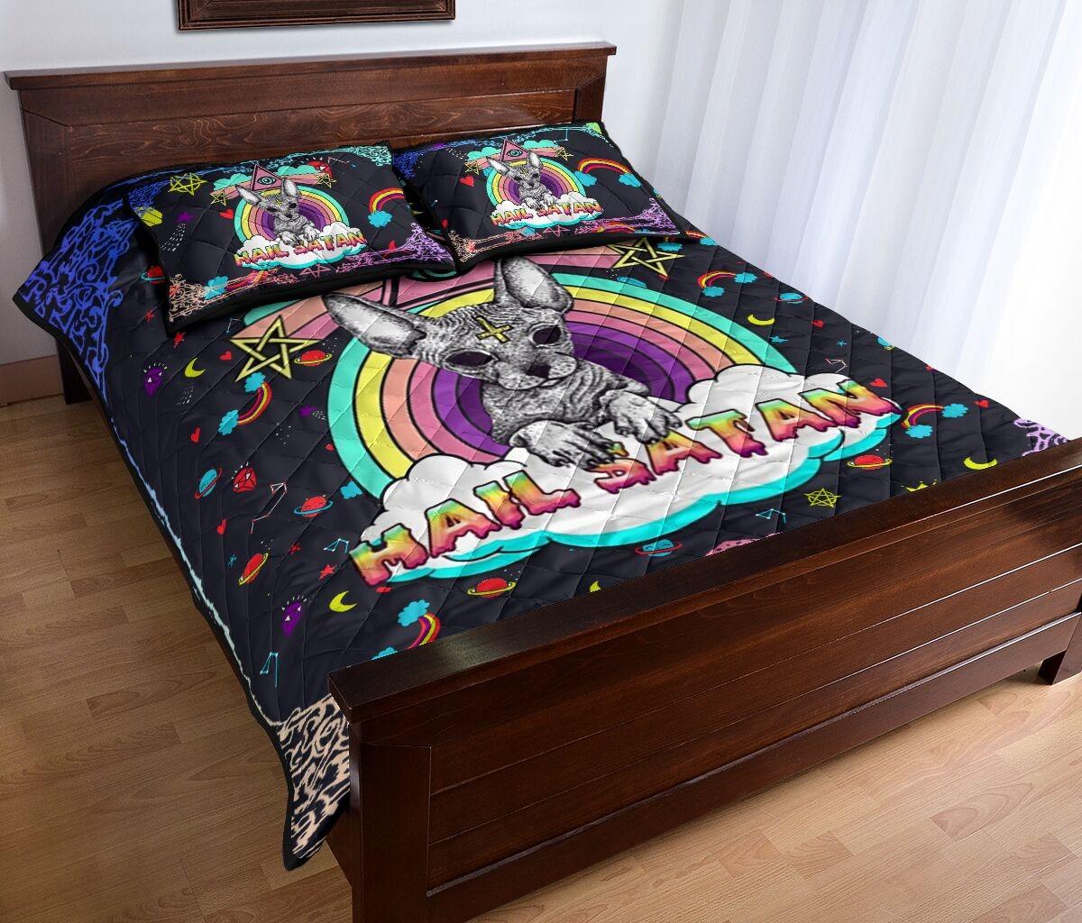 Sphyn hail satan quilt bedding set 11