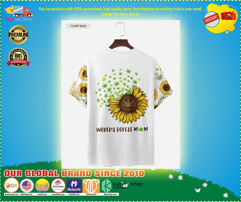 Sunflower dopest mom love 3d T-shirt and hoodie 9
