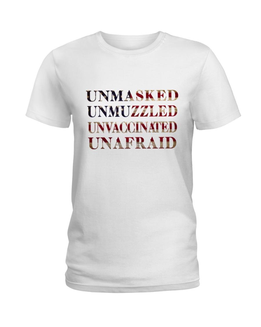 Unmasked Unmuzzled Unvaccinated Unafraid Shirt 10