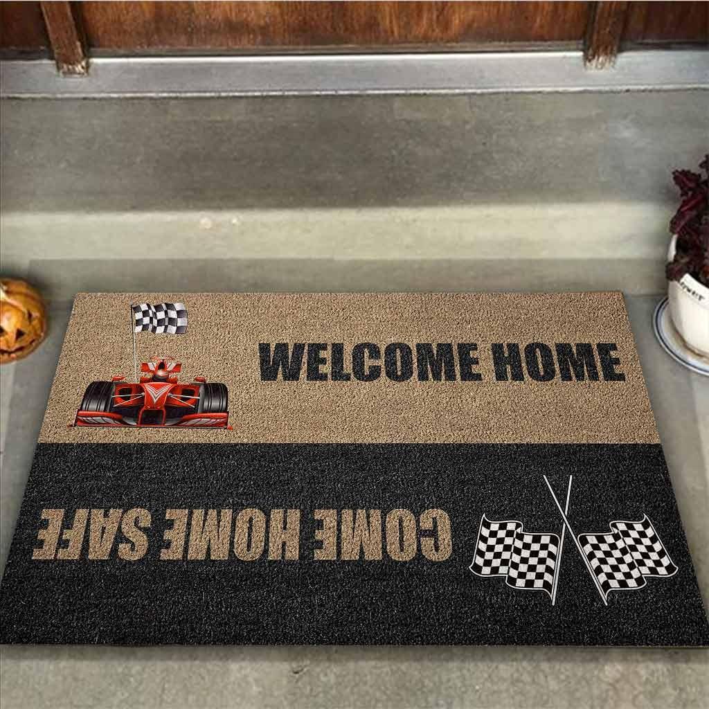 Welcome home come home safe racing doormat 9