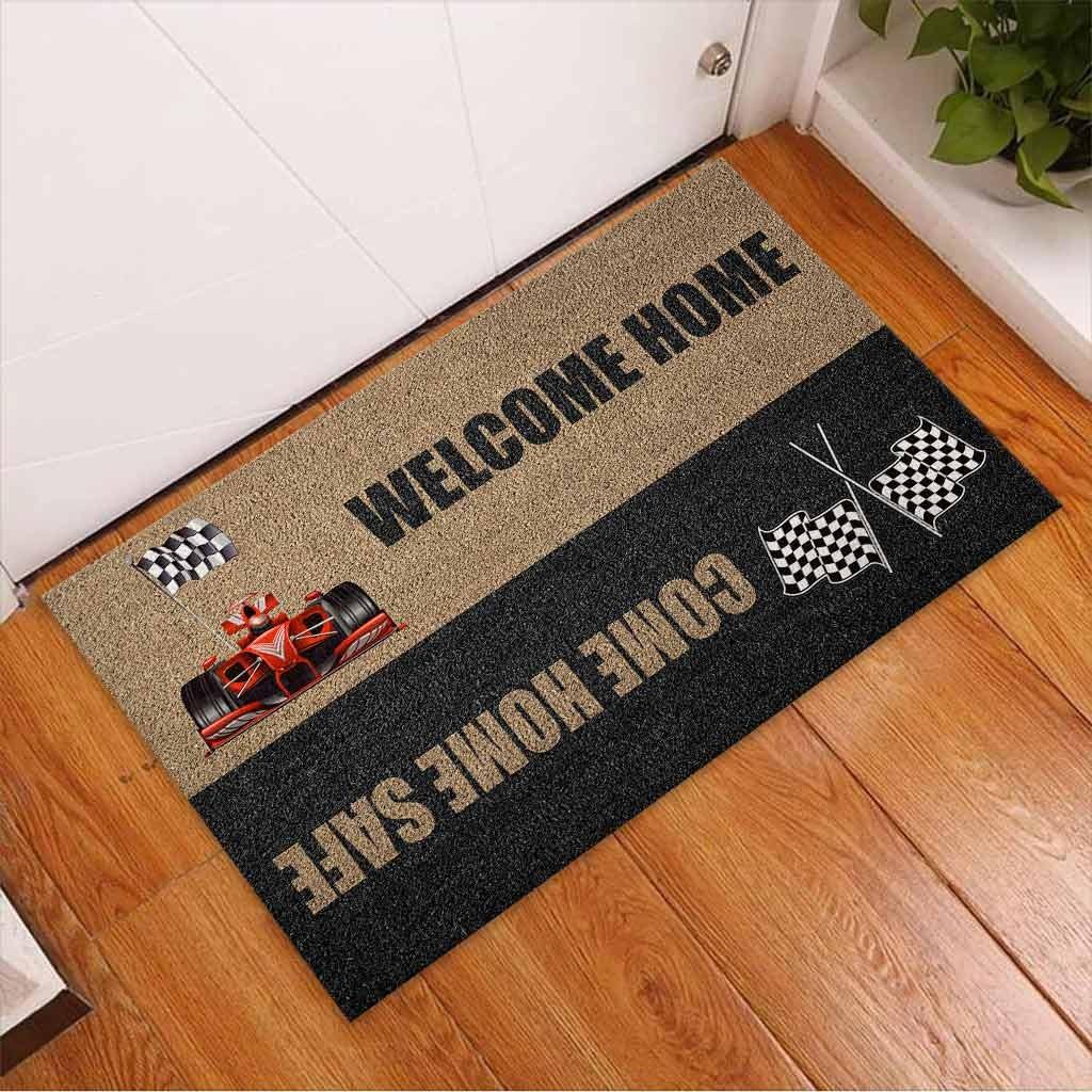 Welcome home come home safe racing doormat 11