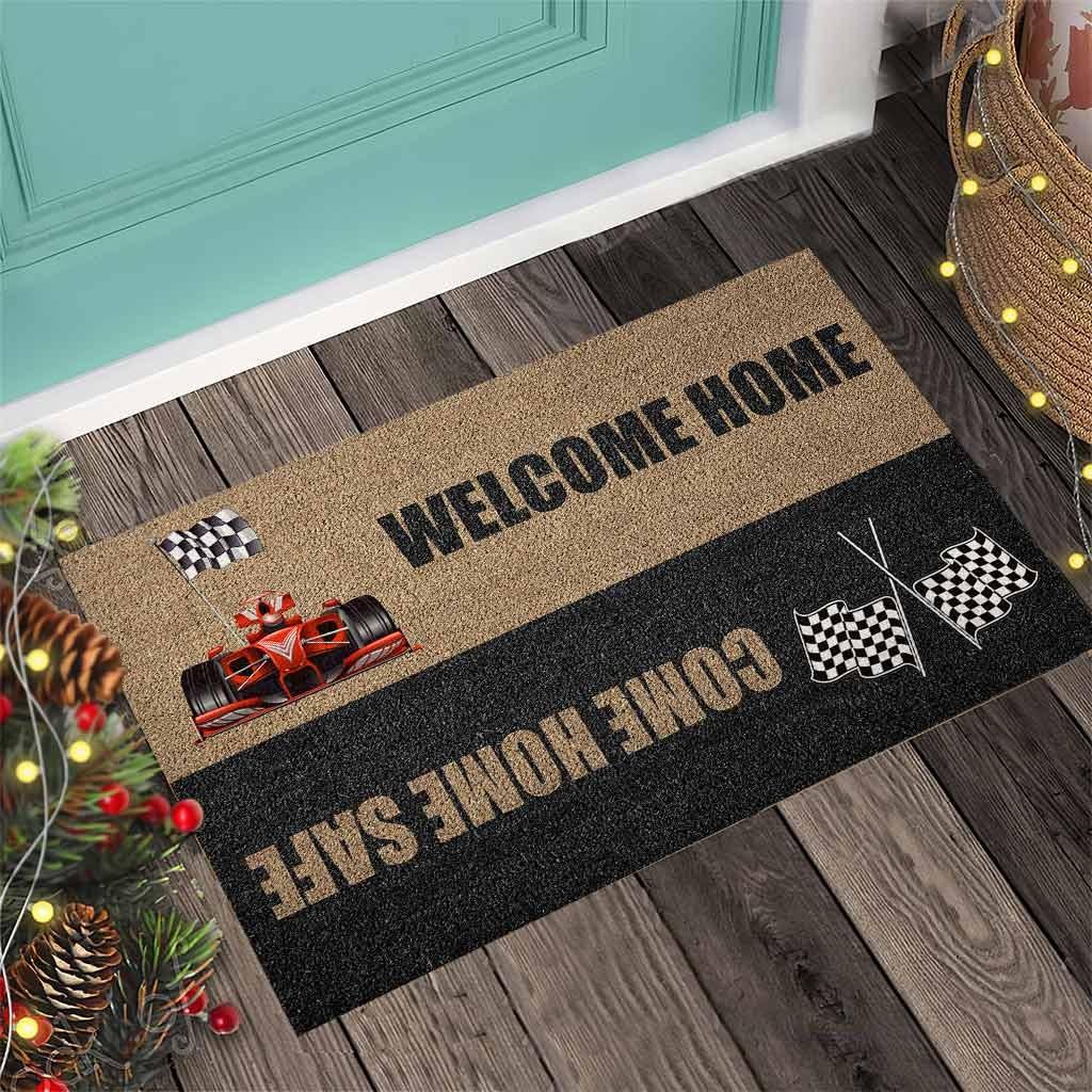 Welcome home come home safe racing doormat 10