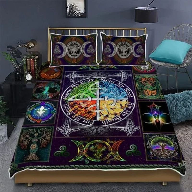 Wiccan witch pagan quilt bedding set 7