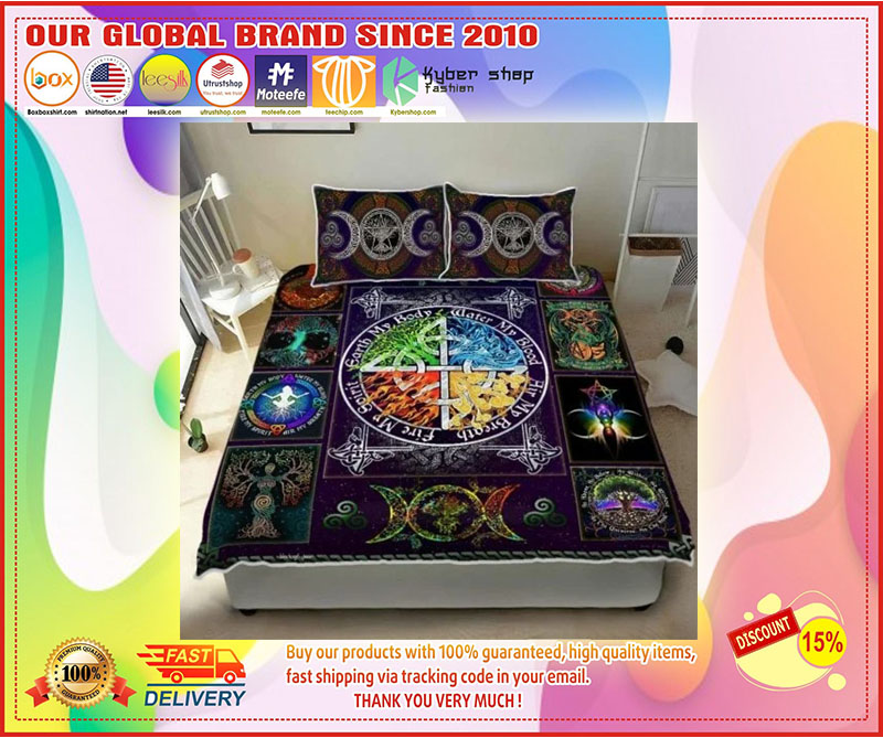 Wiccan witch pagan quilt bedding set 8