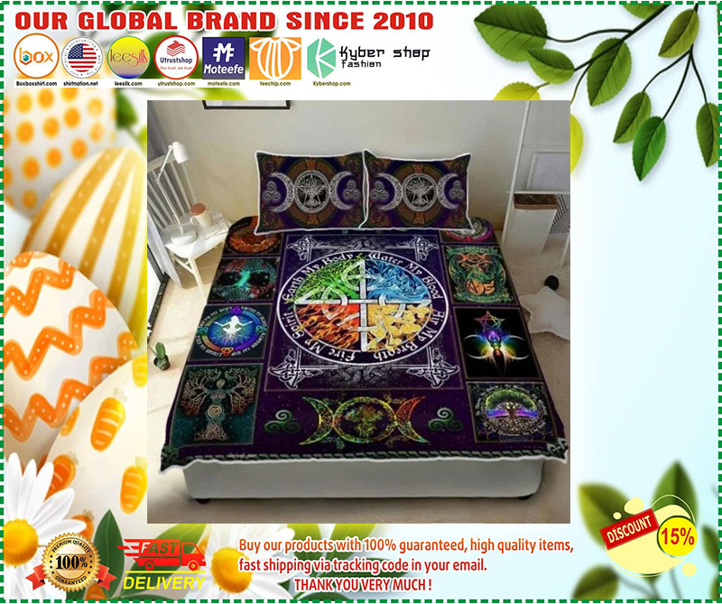 Wiccan witch pagan quilt bedding set 9