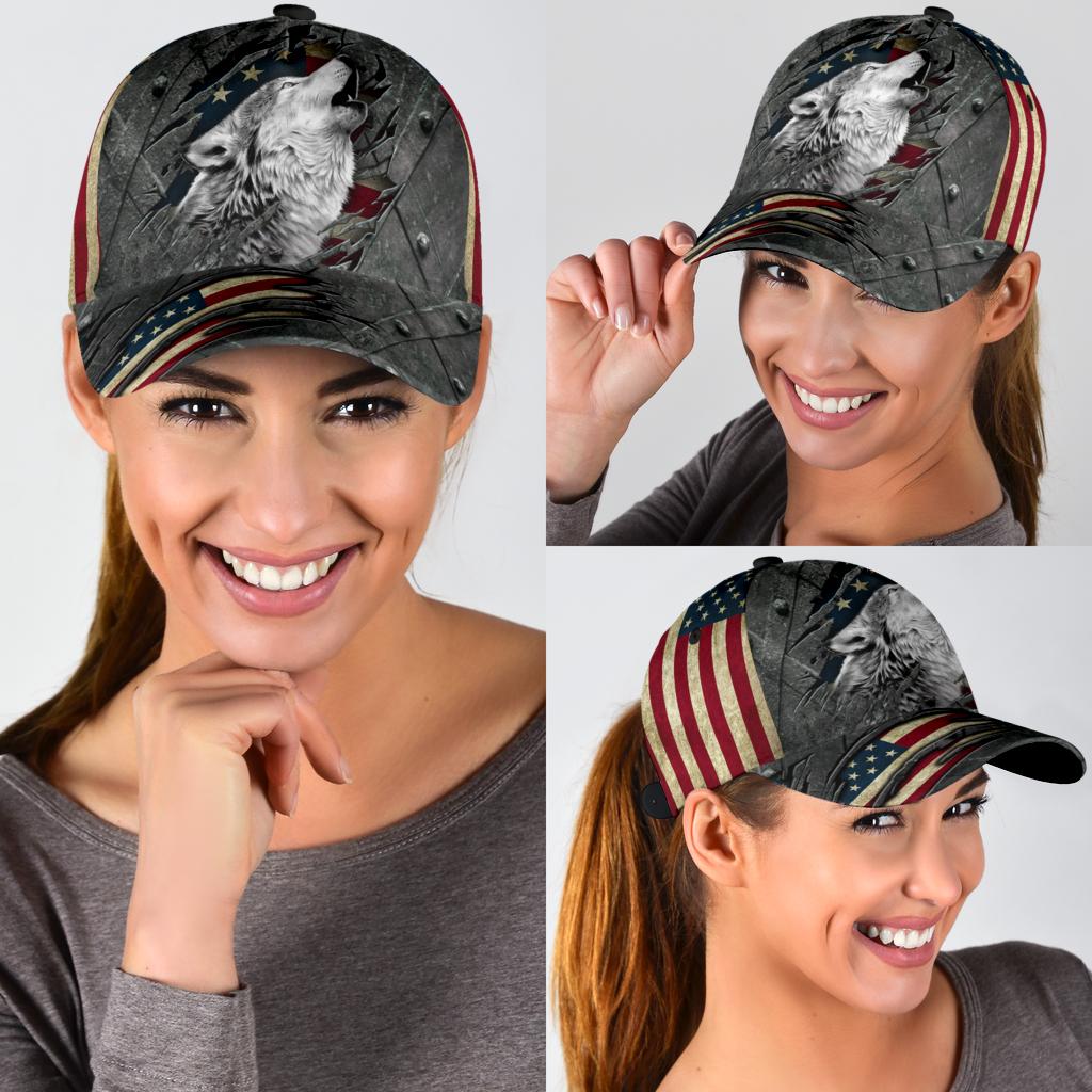 Wofl American flag classic cap 11