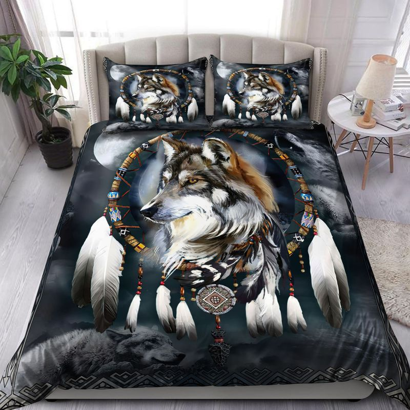 Wolf native American bedding set 7