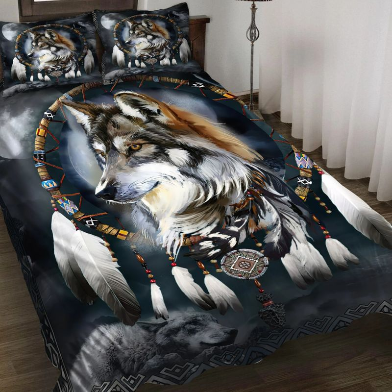 Wolf native American bedding set 8