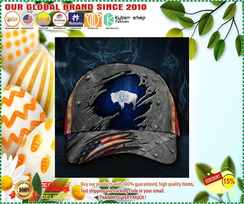 Wyoming American flag classic cap 9