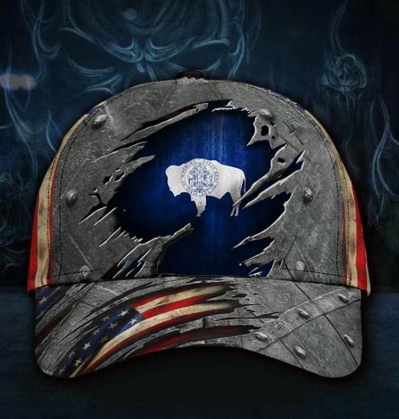 Wyoming American flag classic cap