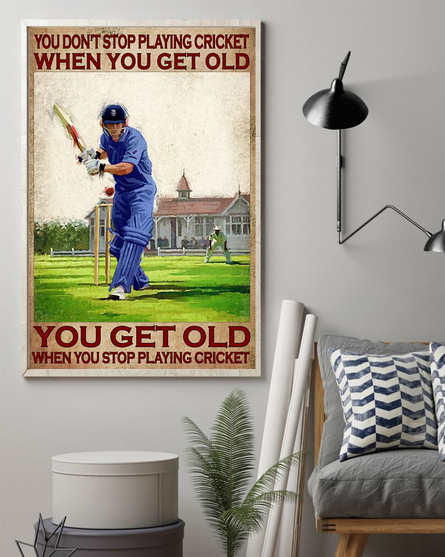 You don't stop playing cricket when you get old poster 11