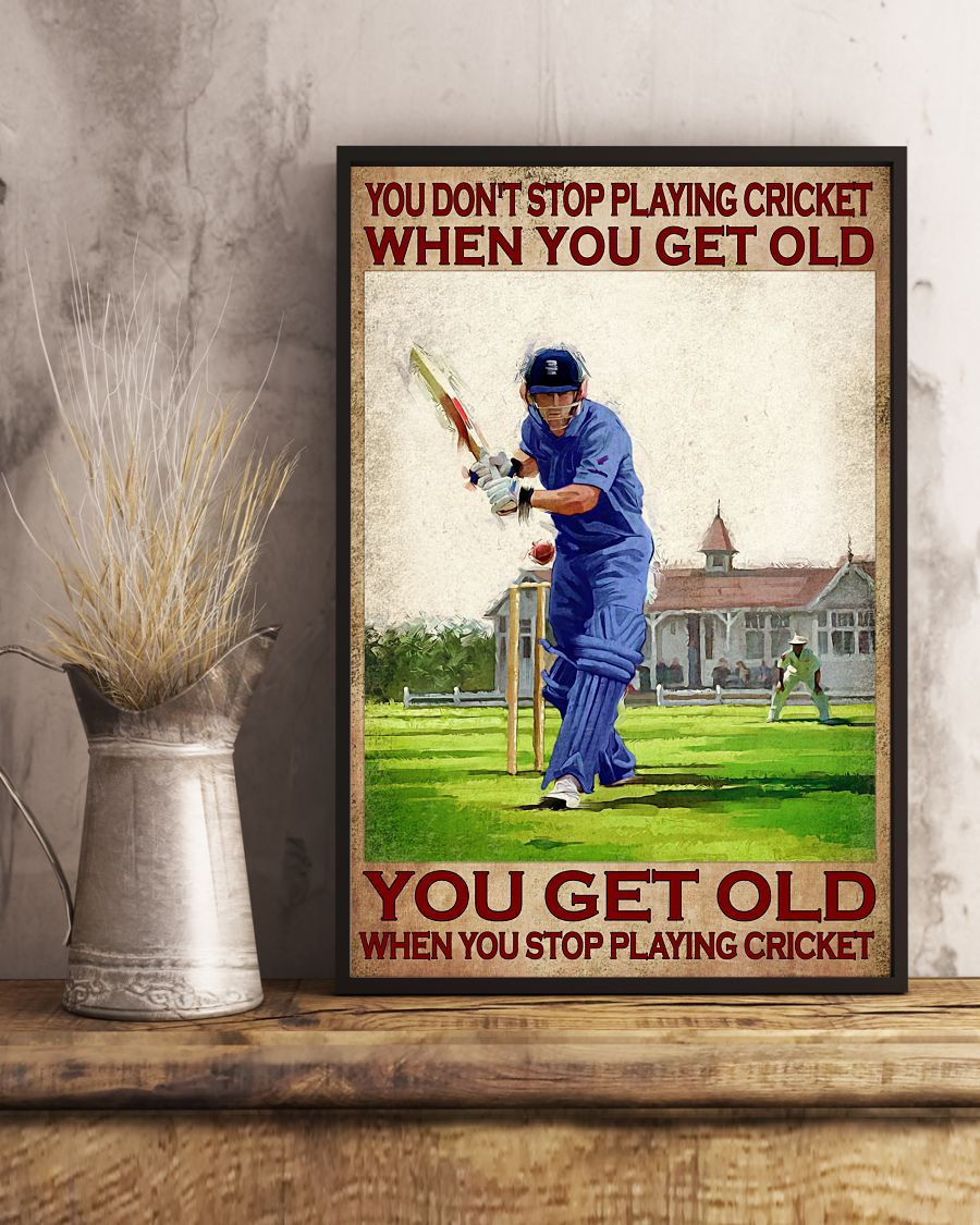 You don't stop playing cricket when you get old poster 10