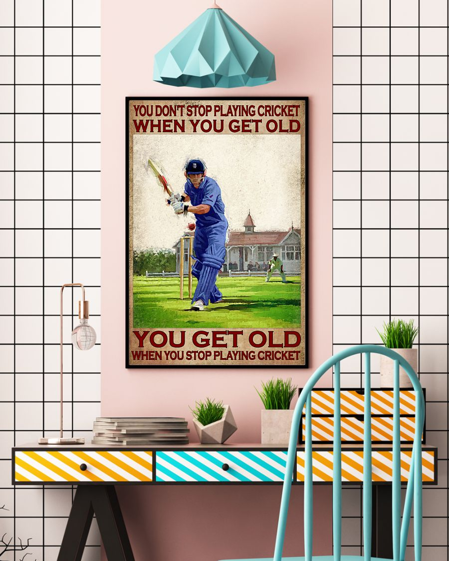 You don't stop playing cricket when you get old poster 12
