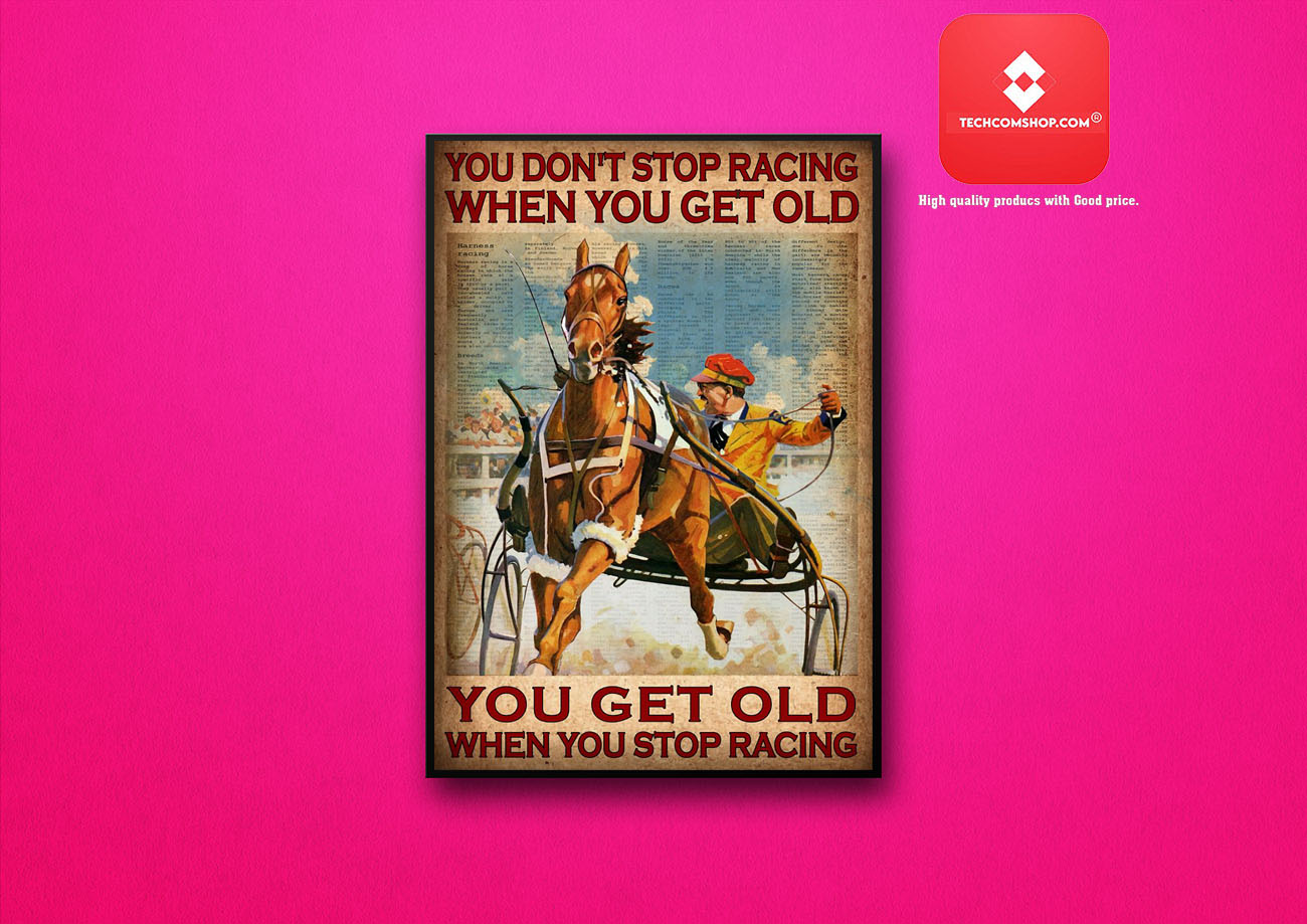 You don't stop racing when you get old poster 8