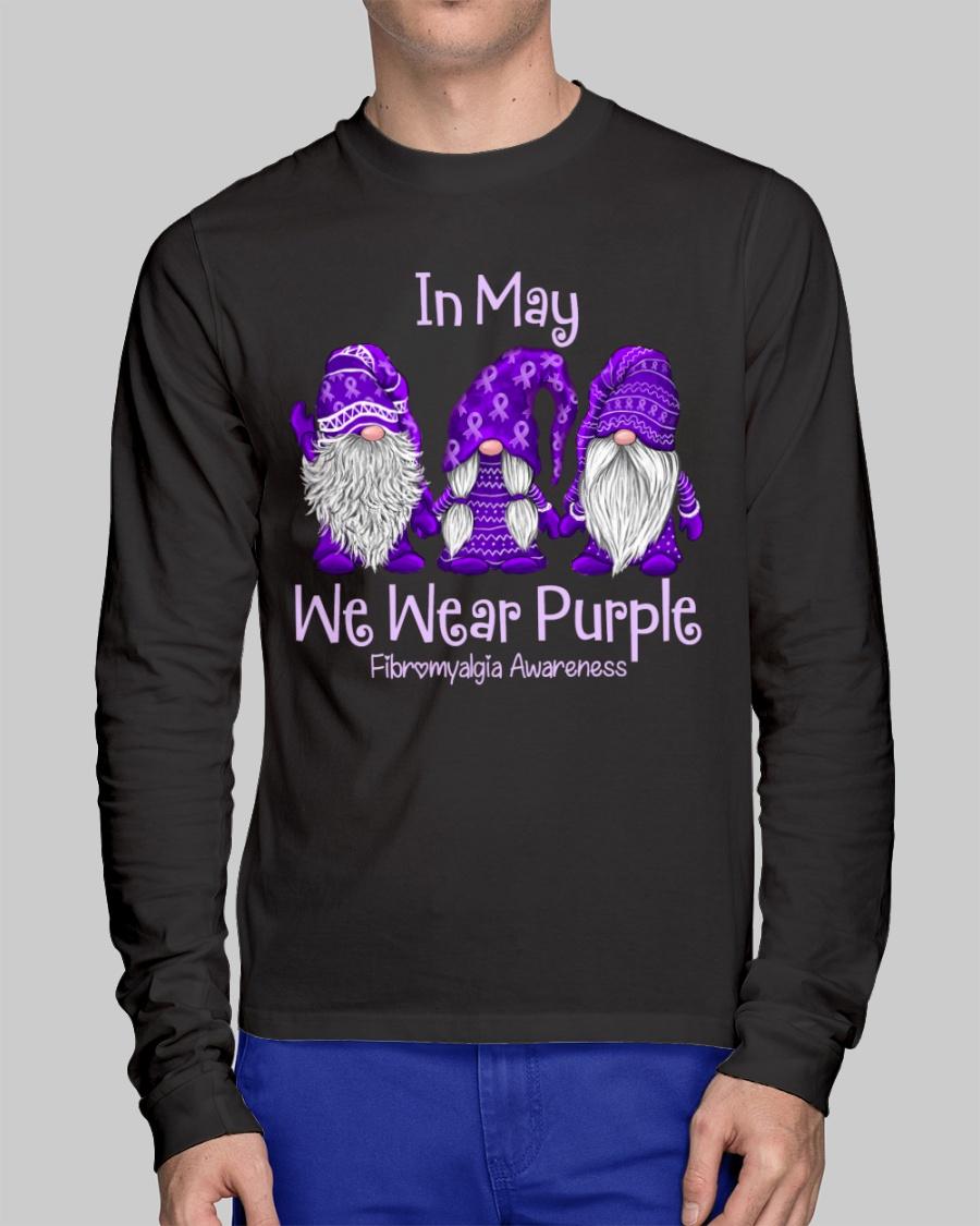 in May We Wear Purple Fibromyalgia Awareness Shirt 12