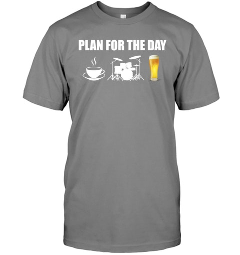 Plan for the day coffee drum beer Shirt 5