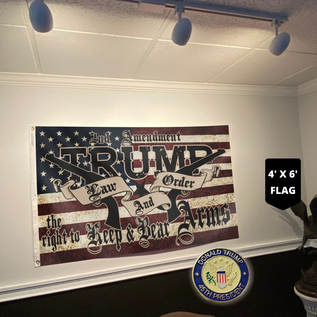 2nd amendment Trump law and order the right keep and bear arms flag 7