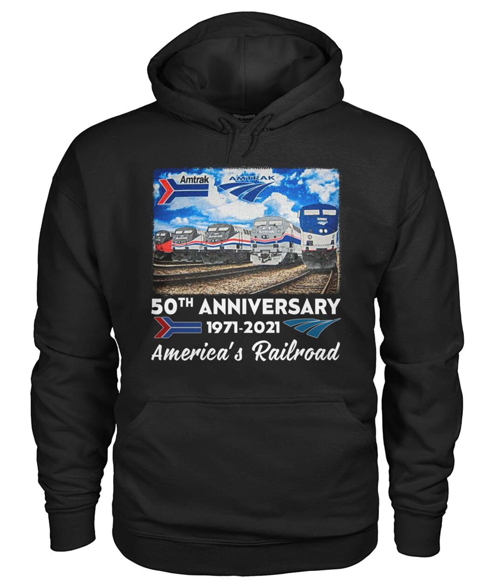 50th Anniversary 1971 2021 America's Railroad Shirt 10