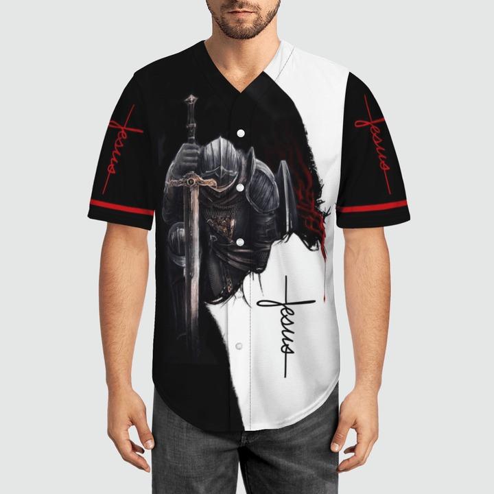 A child of god a man of faith a warrior of christ baseball jersey 9