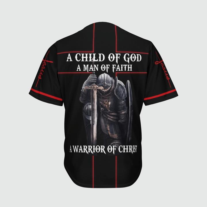 A child of god a man of faith a warrior of christ baseball jersey 11