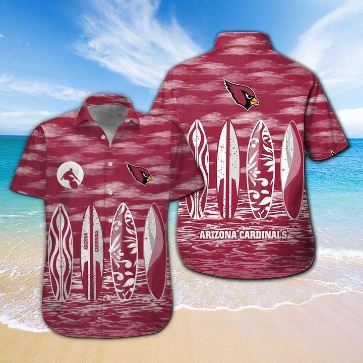 Arizona Cardinals Hawaiian shirt And Beach SHORT 14