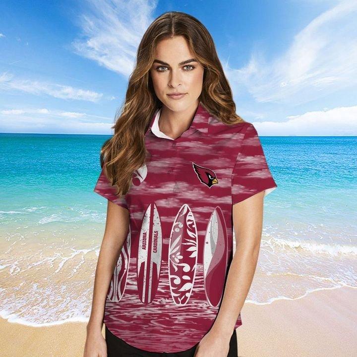 Arizona Cardinals Hawaiian shirt And Beach SHORT 13