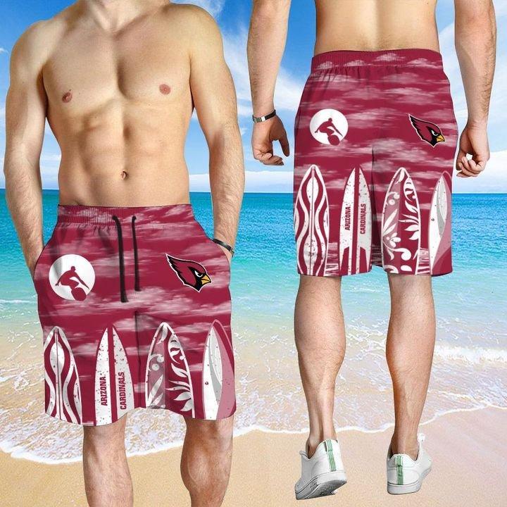 Arizona Cardinals Hawaiian shirt And Beach SHORT 12