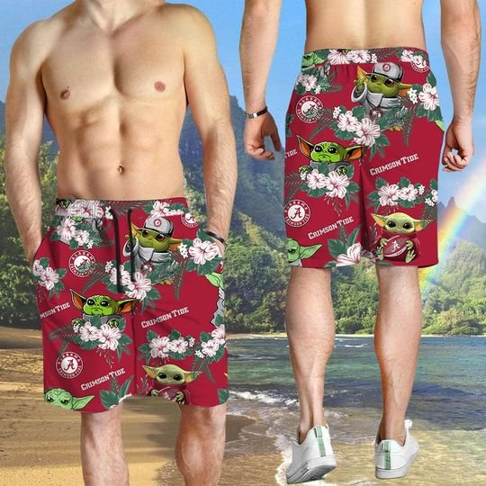 Arkansas Razorbacks And Yoda Hawaiian And Beach Short 3