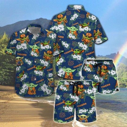 Auburn Tigers And Yoda Hawaiian And Beach Short 5