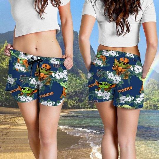 Auburn Tigers And Yoda Hawaiian And Beach Short 6