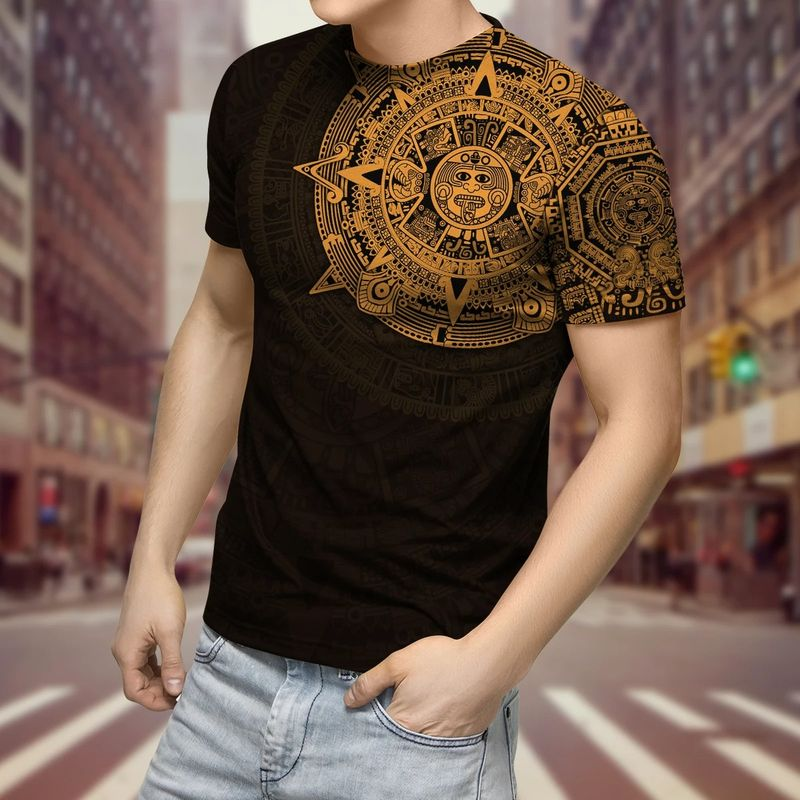 Aztec Mexico 3D over print hoodie and shirt 9