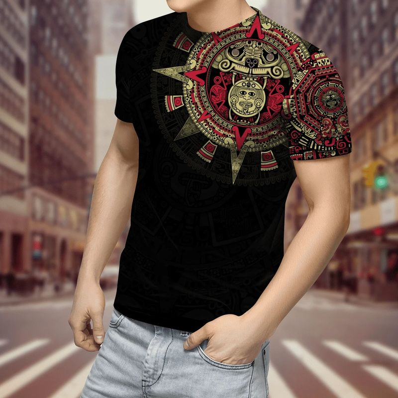 Aztec Mexico 3D over print hoodie and shirt 10