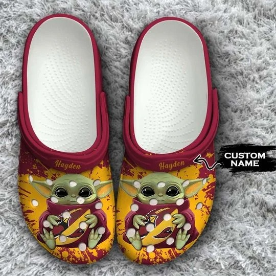 Baby Yoda Arizona Cardinals custom name crocs crocband clog