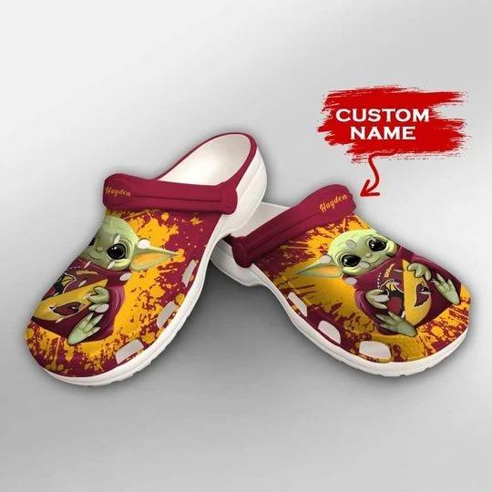 Baby Yoda Arizona Cardinals custom name crocs crocband clog 2