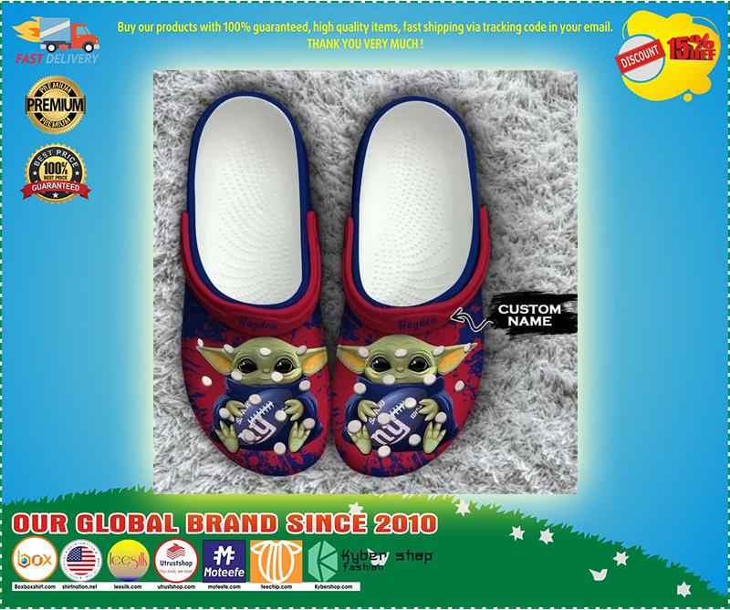 Baby Yoda New York Giants custom name crocs crocband clog 11