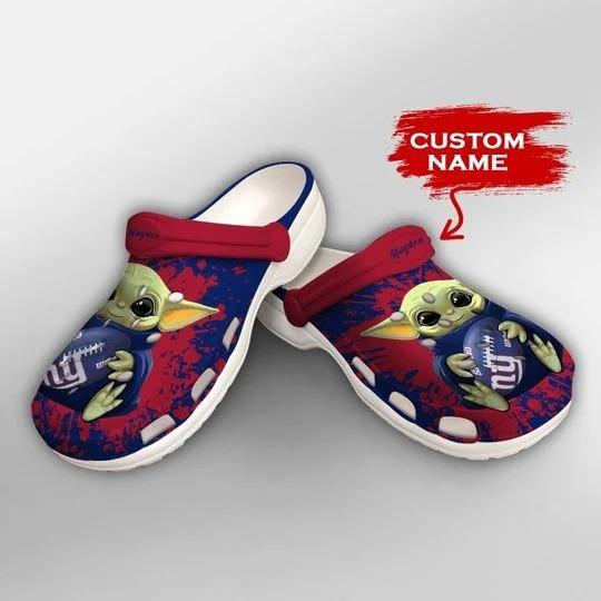 Baby Yoda New York Giants custom name crocs crocband clog 2