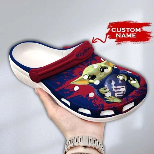 Baby Yoda New York Giants custom name crocs crocband clog 1