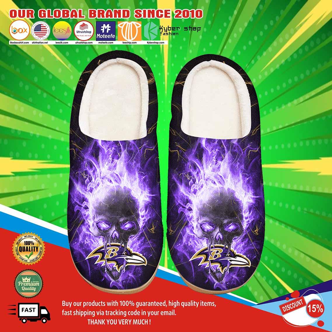 Baltimore Ravens Custom Shoes Slippers 3