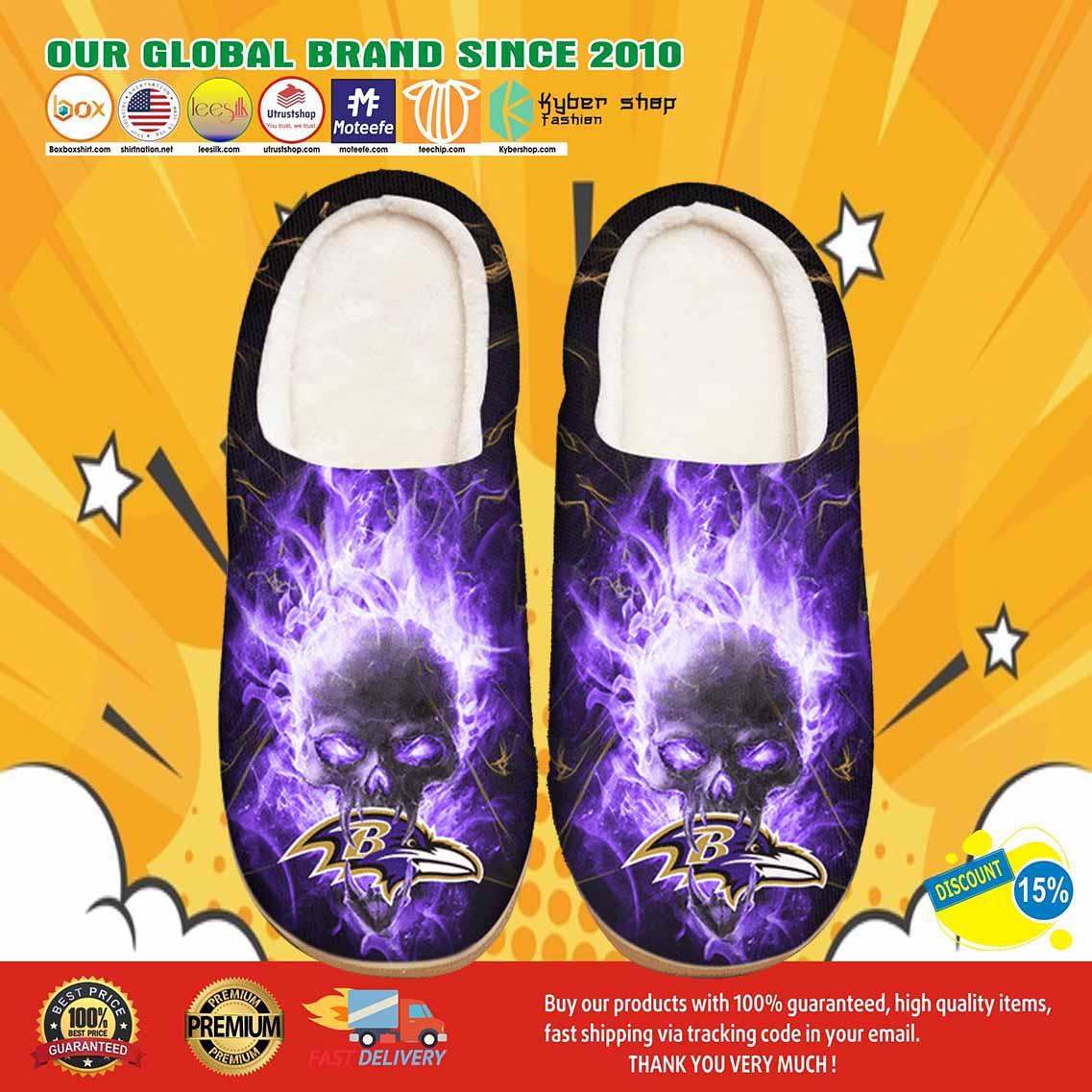 Baltimore Ravens Custom Shoes Slippers 7