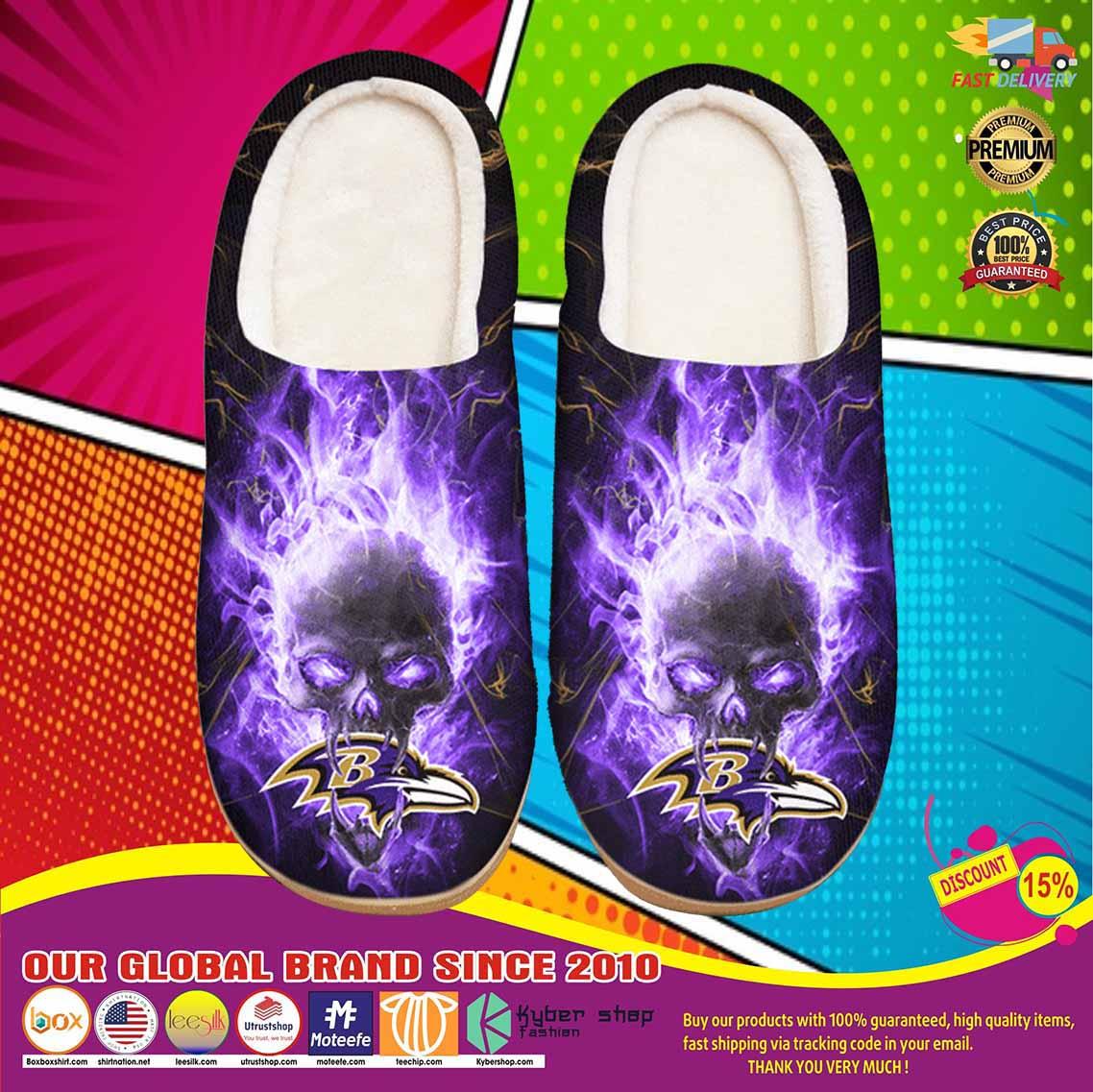 Baltimore Ravens Custom Shoes Slippers 9