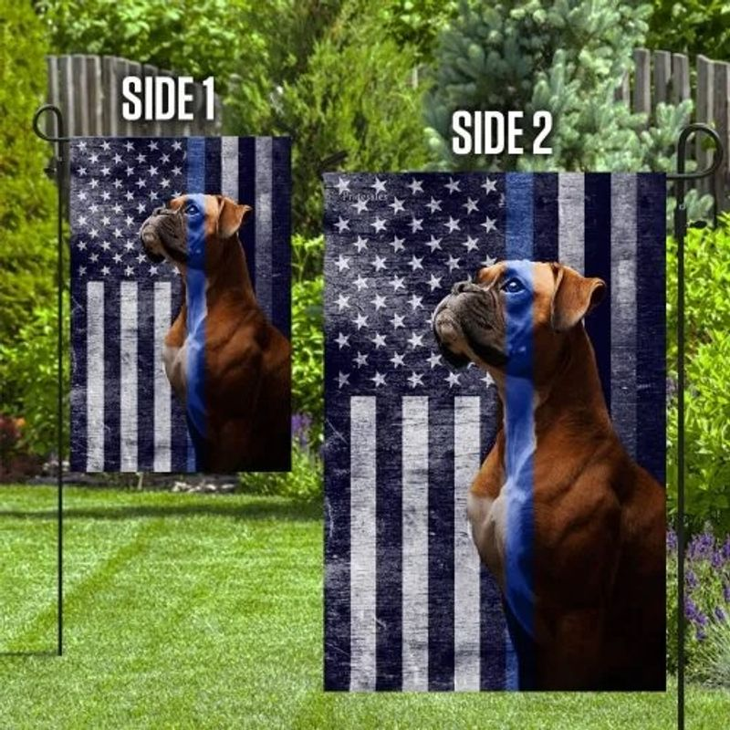 Boxer the thin blue line American US flag 9