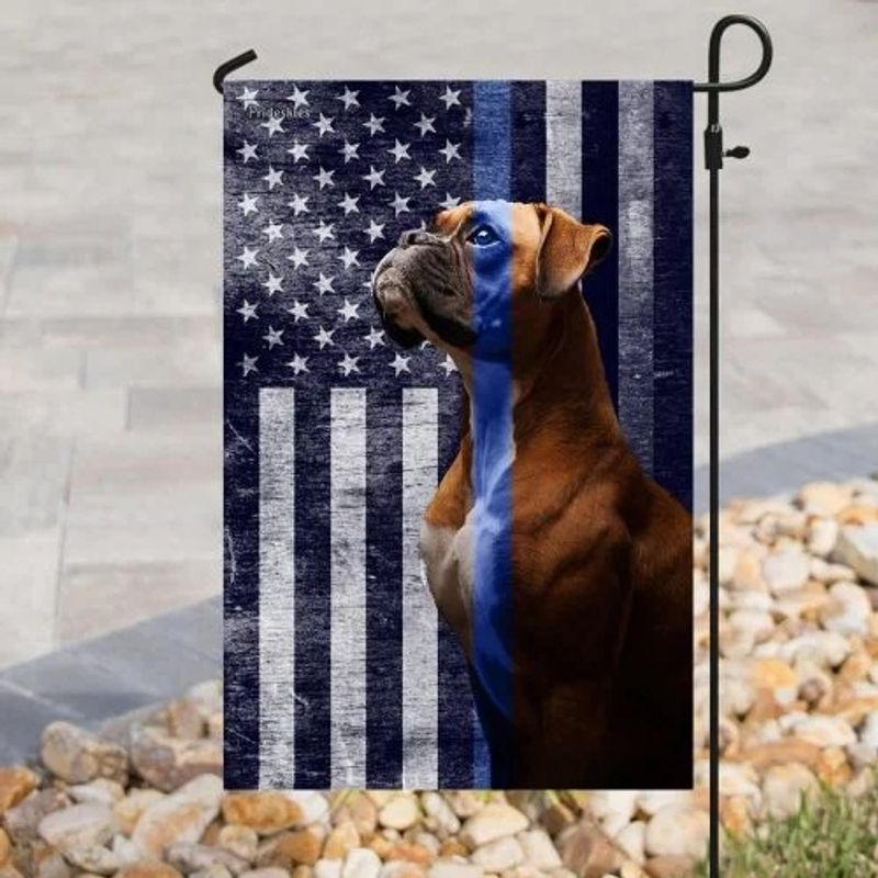 Boxer the thin blue line American US flag 11