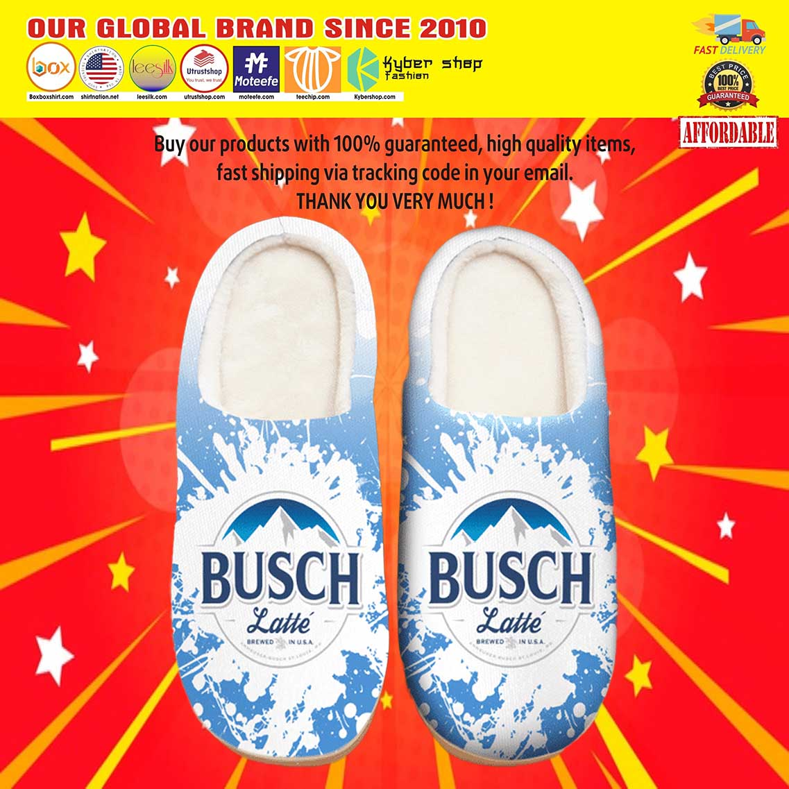 Break All Limits Busch Latte Shoes Slippers 8