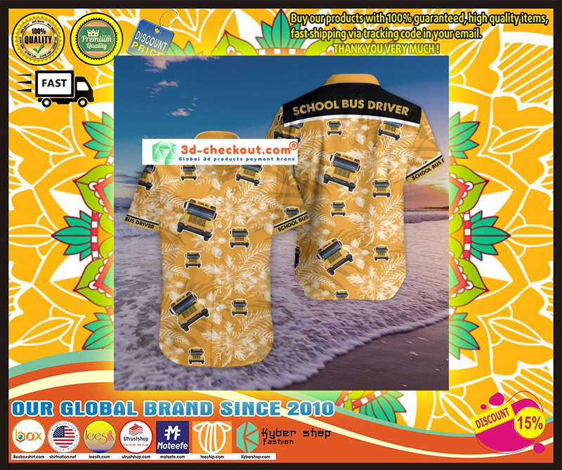 Bus driver tropical hawaiian shirt 10
