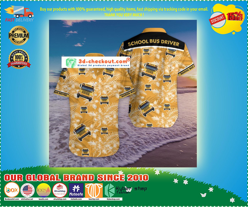 Bus driver tropical hawaiian shirt 11