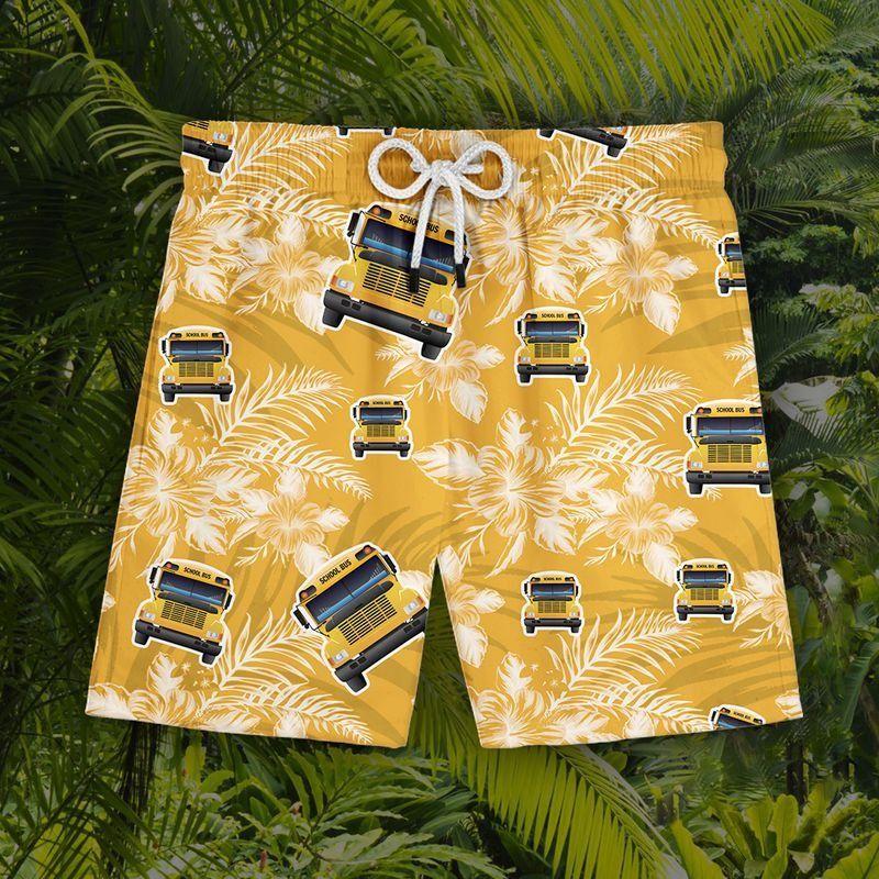 Bus driver tropical hawaiian shirt 9